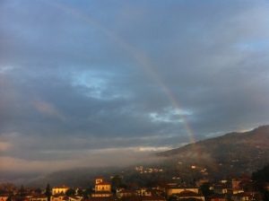 Rainbow over Barga